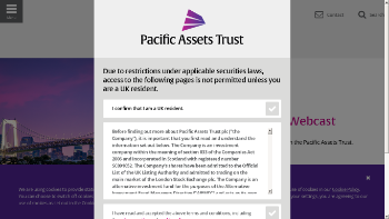 Pacific Assets Trust plc Website Screenshot