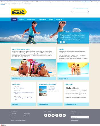 On the Beach Group plc Website Screenshot