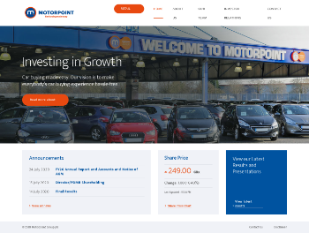 Motorpoint Group plc Website Screenshot
