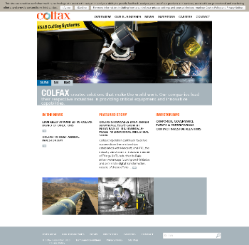 Colfax Corporation Website Screenshot