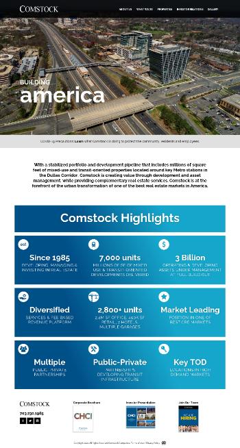 Comstock Holding Companies, Inc. Website Screenshot