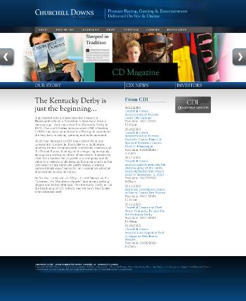 Churchill Downs Incorporated Website Screenshot