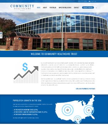 Community Healthcare Trust Incorporated Website Screenshot