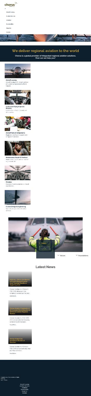 Chorus Aviation Inc. Website Screenshot
