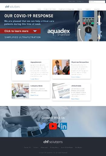 CHF Solutions, Inc. Website Screenshot