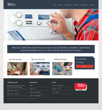 Bilby Plc Website Screenshot