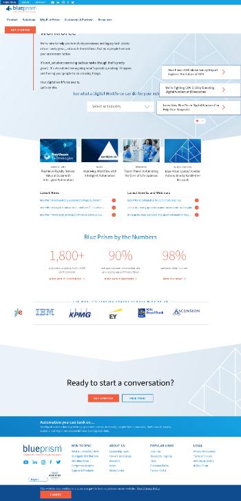 Blue Prism Group plc Website Screenshot