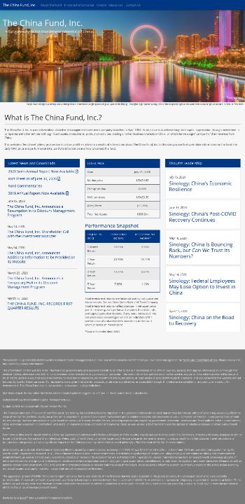The China Fund, Inc. Website Screenshot