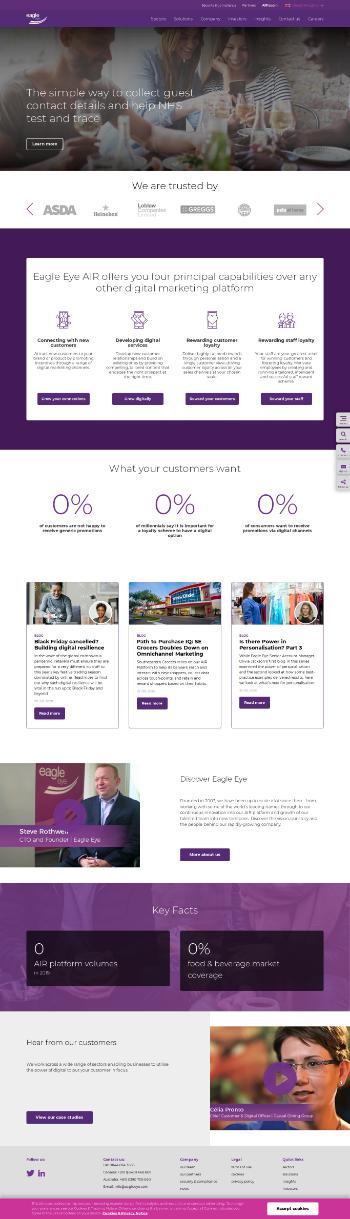 Eagle Eye Solutions Group plc Website Screenshot