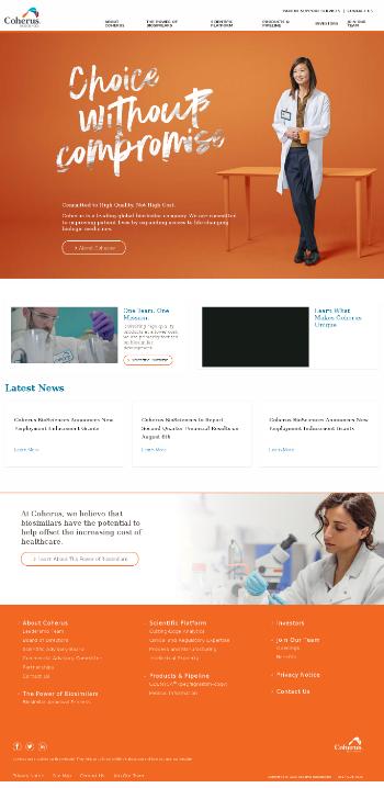 Coherus BioSciences, Inc. Website Screenshot