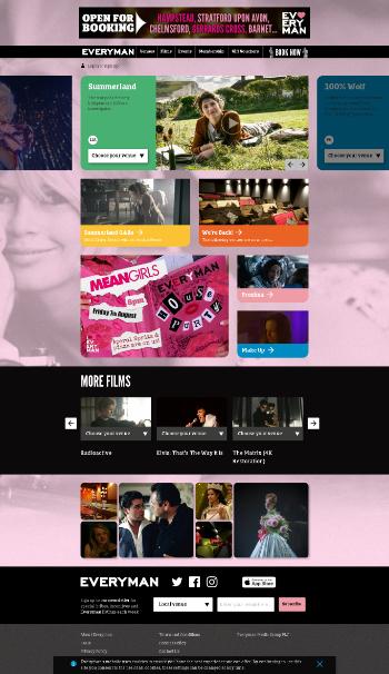 Everyman Media Group plc Website Screenshot