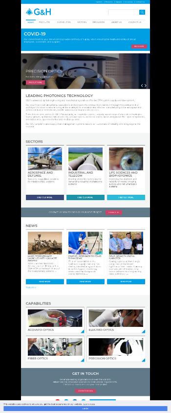 Gooch & Housego PLC Website Screenshot