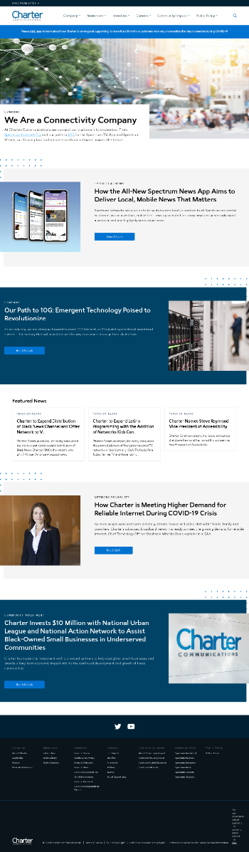 Charter Communications, Inc. Website Screenshot
