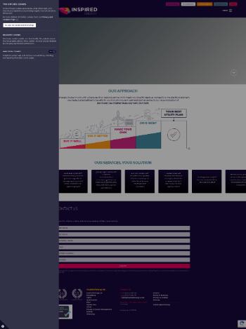 Inspired Energy PLC Website Screenshot