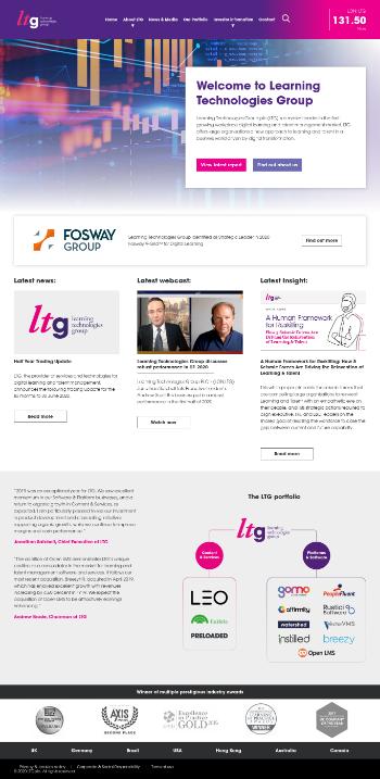 Learning Technologies Group plc Website Screenshot