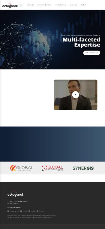 Octagonal Plc Website Screenshot