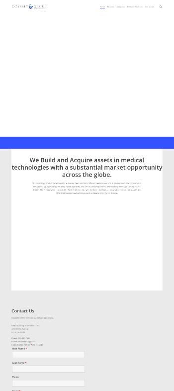 Odyssey Group International, Inc. Website Screenshot