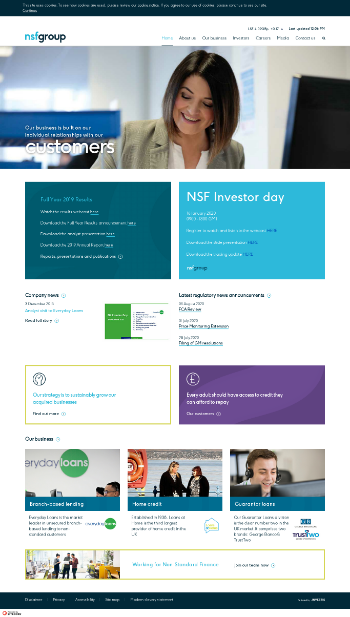 Non-Standard Finance plc Website Screenshot