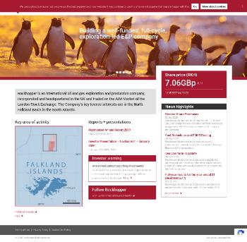 Rockhopper Exploration plc Website Screenshot