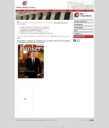Citizens Holding Company Website Screenshot