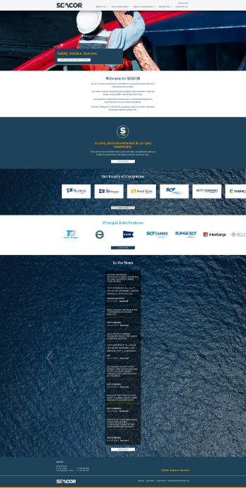 Seacor Holdings Inc. Website Screenshot