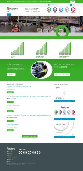 Restore plc Website Screenshot