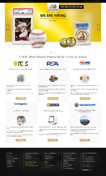 Collectors Universe, Inc. Website Screenshot