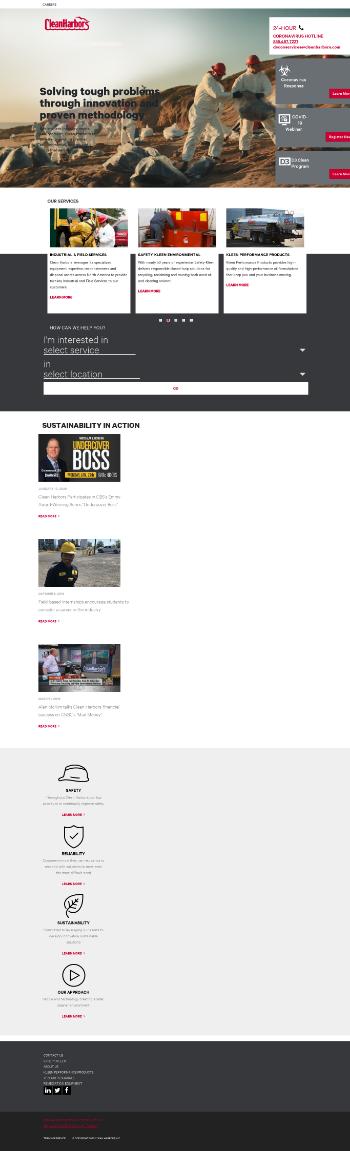 Clean Harbors, Inc. Website Screenshot