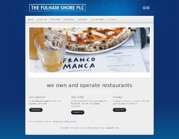 The Fulham Shore PLC Website Screenshot