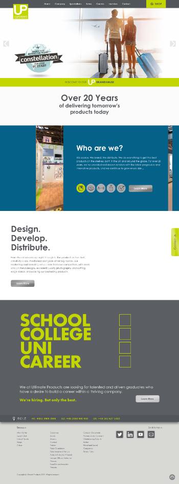 UP Global Sourcing Holdings plc Website Screenshot