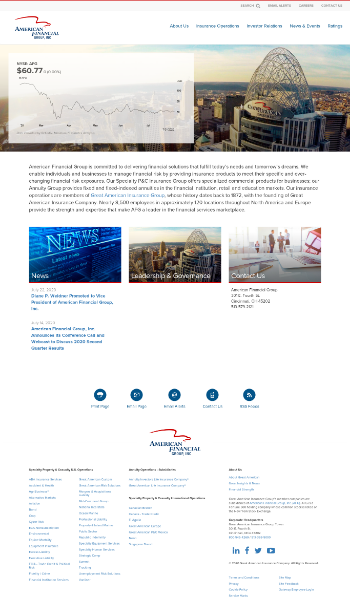 American Financial Group, Inc. Website Screenshot