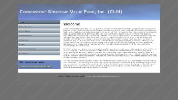 Cornerstone Strategic Value Fund, Inc. Website Screenshot