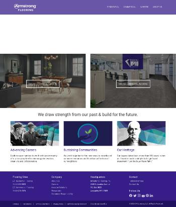 Armstrong Flooring, Inc. Website Screenshot