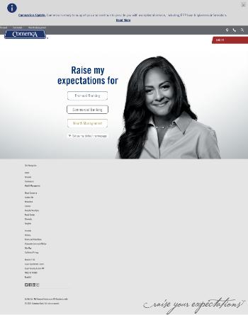 Comerica Incorporated Website Screenshot