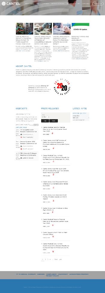 Cantel Medical Corp. Website Screenshot