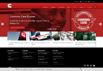 Cummins Inc. Website Screenshot