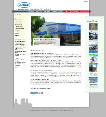 AAON, Inc. Website Screenshot
