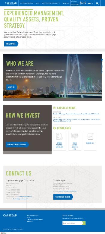 Capstead Mortgage Corporation Website Screenshot