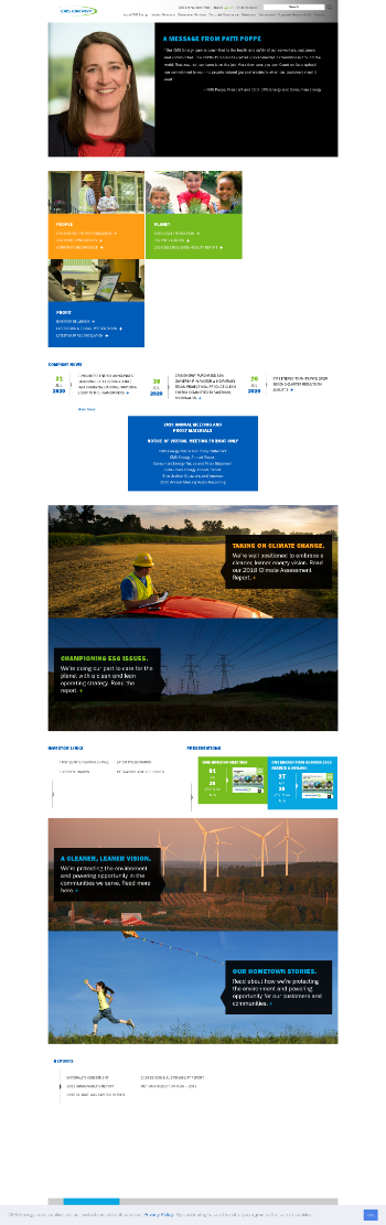 CMS Energy Corporation Website Screenshot