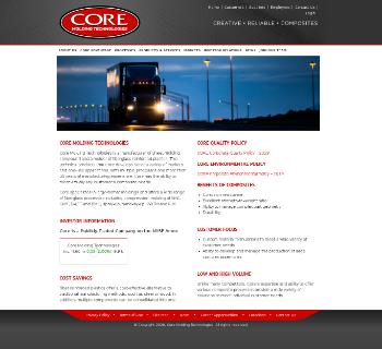 Core Molding Technologies, Inc. Website Screenshot