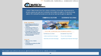 Comtech Telecommunications Corp. Website Screenshot