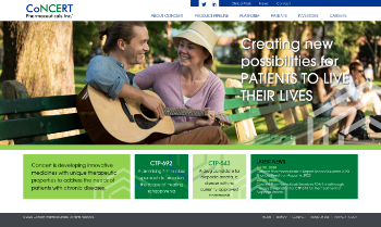 Concert Pharmaceuticals, Inc. Website Screenshot
