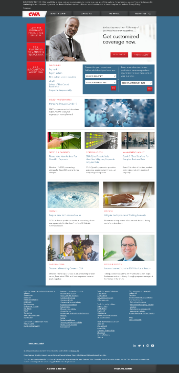 CNA Financial Corporation Website Screenshot