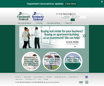Cincinnati Bancorp, Inc. Website Screenshot