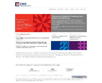 CNO Financial Group, Inc. Website Screenshot