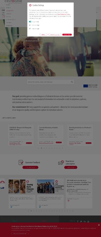 Centogene N.V. Website Screenshot