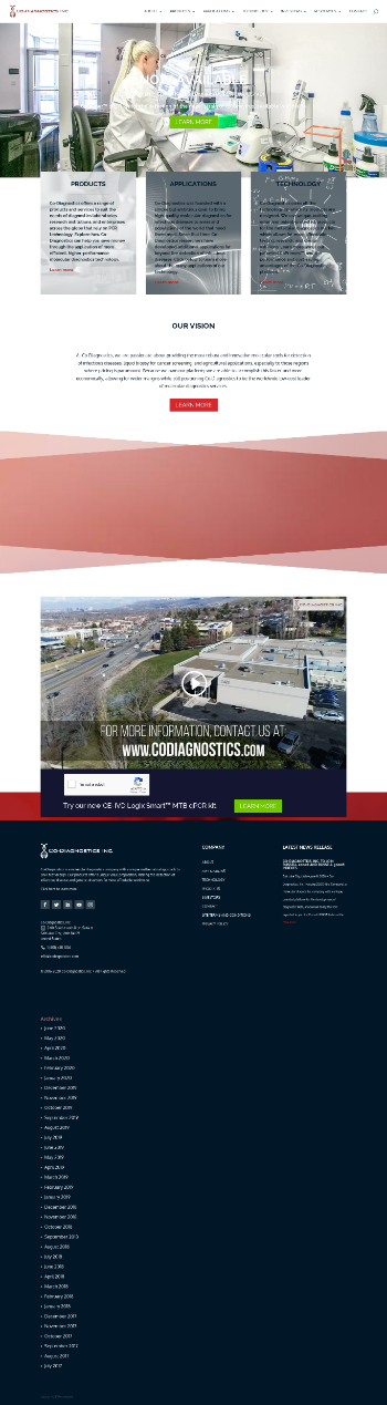 Co-Diagnostics, Inc. Website Screenshot
