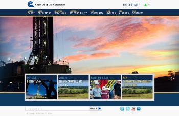 Cabot Oil & Gas Corporation Website Screenshot