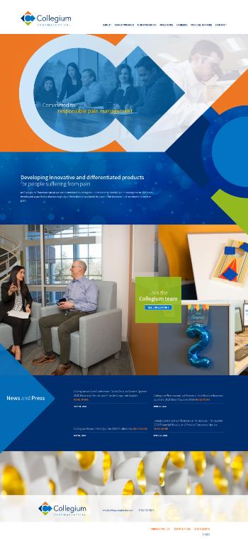 Collegium Pharmaceutical, Inc. Website Screenshot