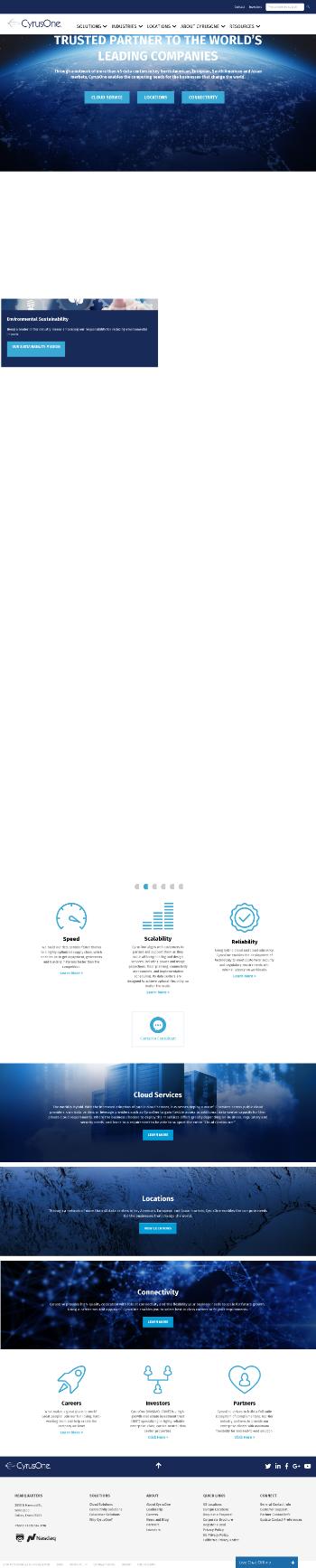 CyrusOne Inc. Website Screenshot
